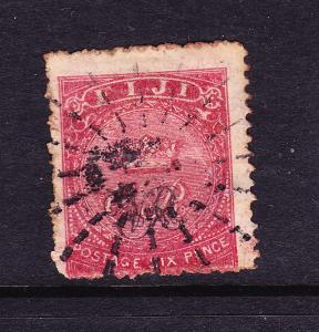 FIJI  1876-77  6d CARMINE  VR   FU SG 33a