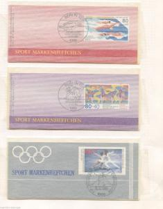 GERMANY BERLIN SPORTS PRIVATE ISSUE BOOKLET LOT OF 3 AS SHOWN