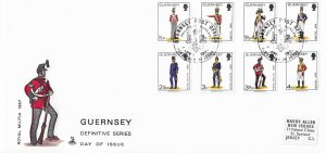 Guernsey FDC Royal Militia 1867 8 Stamps