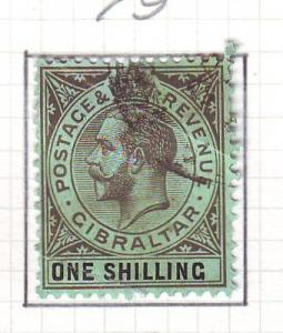 Gibraltar Sc 83 1924 1 shilling G V stamp used