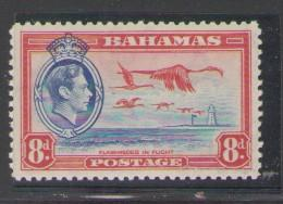 Bahamas Sc 108 1937 8d GVI & Flamingo  stamp mint