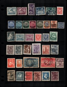 Poland  34  different mint hinged and used