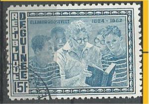 GUINEA, 1964, used 15fr, Eleanor Roosevelt Scott 338