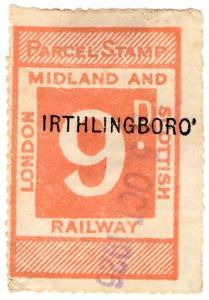 (I.B) London Midland & Scottish Railway : Parcel 9d (Irthlingborough)