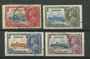 SWAZILAND 1935 Set of 3 Silver Jubilee Issues, Sg 21/24, Fine used. {Box 5-19}