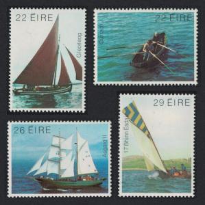 Ireland Irish Boats Sailing 4v SG#524-527 MI#476-479