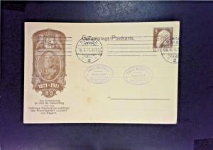 Bavaria 1911 3pf Postal Card Used - Z1034