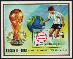 Lesotho World Cup Football Championship Italy MS SG#MS946