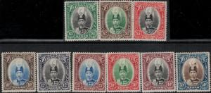 Malaya-Kedah SC 46-54 Mint 1937 SCV$ 203.00 Set