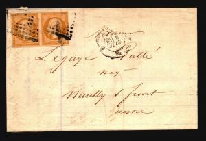 France 1857 Letter Cover / Pair  - Z15698