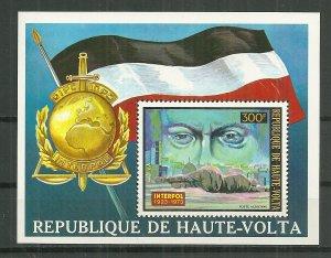 1973 Burkina Faso C170 Interpol MNH souvenir sheet.