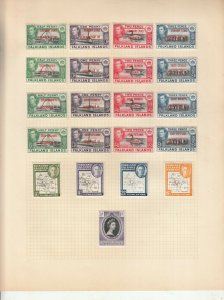 FALKLAND ISLANDS DEPENDENCIES ALBUM PAGE  VALUES GEORGE 6TH, MOUNTED MINT