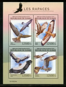 GUINEA 2019  BIRDS OF PREY SHEET MINT NEVER HINGED