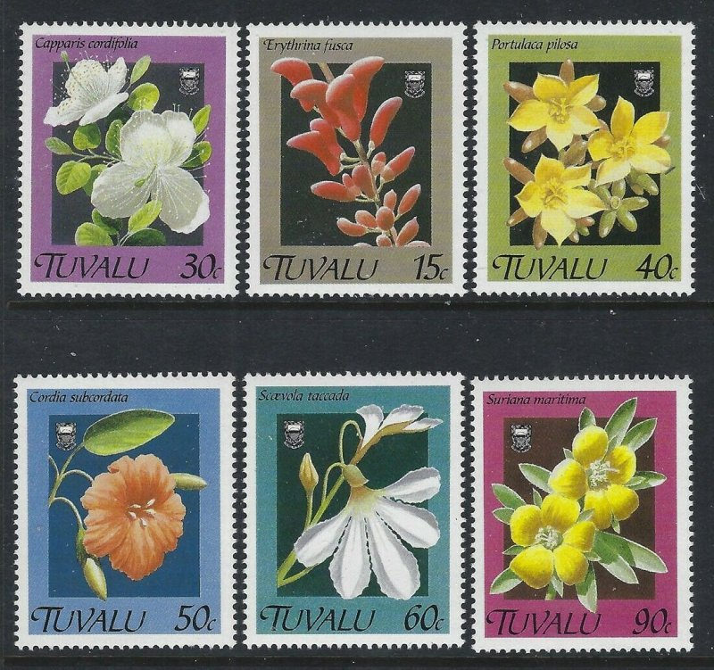 Tuvalu 1990 Flowers set Sc# 549-54 NH