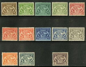 BAVARIA O60-O19 (MISSING O11,O18 SCV $7.25 BIN $3.25 CREST