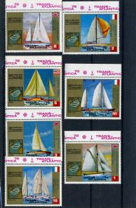 Equatorial Guinea 1973 Transatlantic race set of 7 values Perforated Mint (NH)