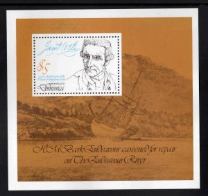 DOMINICA Scott 629 MNH** 1979 Captain Cook souvenir sheet