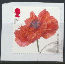 Great Britain  SG 3626 SC# 3312 Used Self Adhesive Poppy WWI Centenary see de...