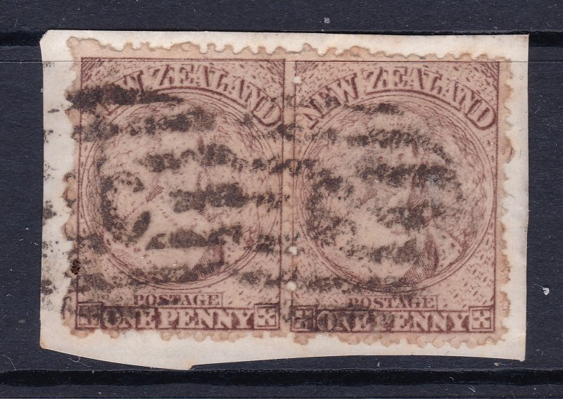 New Zealand a pair of early QV (FFQ) used on piece