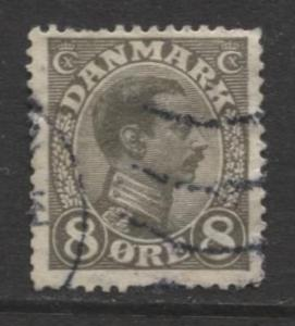 Denmark - Scott 99 - King Christian X Issue -1920 - Used - Single 8o Stamp
