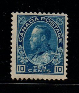Canada Sc 117 1922 10 c blue G V Admiral issue stamp mint