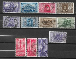 COLLECTION LOT OF # 835 ITALY 12 STAMPS 1931+ CV+$20