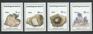 Azerbaijan 1994 Minerals 4 MNH stamps