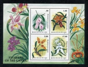 Sri Lanka 1125a, MNH,  Flowers Orchids 1994. x27156