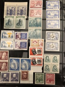 CHILE - Mint Singles & Pairs Primarily from the Sixties