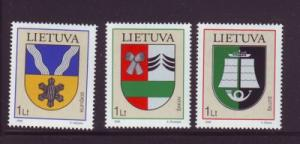 Lithuania Sc813-5 2006 Coats of Arms stamps NH