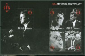 GHANA 2013 50th MEMORIAL ANNIVERSARY OF PRESIDENT JOHN F. KENNEDY SHEET MINT NH
