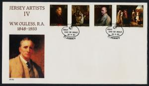 Jersey 316-9 on FDC - Jersey Artists, Painitngs, W.W. Ouless