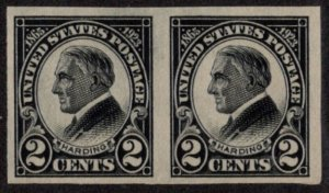 USA SC #611 MNH PR 1923 2c Harding imperf CV $20.00