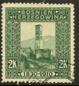 BOSNIA AND HERZEGOVINA 191 2K FRANZ JOSEPH Birthday Jubilee Issue Sc 60 VFU