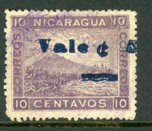 Nicaragua 1904 Momotombo 5¢/10¢ Scott 175 VFU  W610