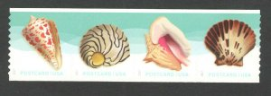 5167-70 US Seashells Coil Strip Of 4 Postcard Rate Mint/nh Free Shipping