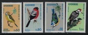 ANDORRA, 228-231, (4)SET, HINGED, 1973-74, BIRDS