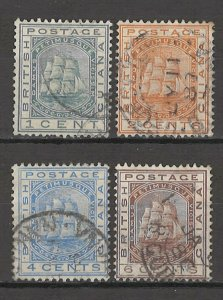 COLLECTION LOT # 4343 BRITISH GUIANA #107-10 1882 CV+$15