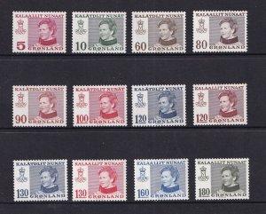 Greenland  #86-97  MNH  1973-79  queen Margrethe