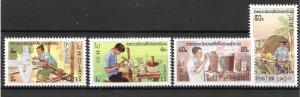 Laos MNH 283-6 Silversmith SCV 2.40