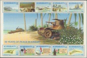 1993 Kiribati #611-612, Complete Set(2), Sheets of 10, Never Hinged