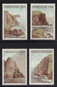 Faroe Islands 1989 MNH bird cliffs of Suduroy complete