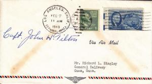 1949, 1st Flt F14-68a, Los Angeles, CA to Guam, Guam, See Remark (21238)