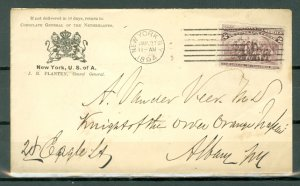 US 1894  #231 on COVER FROM NETHERLANDS AMBASSY