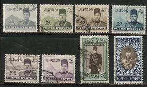 EGYPT Scott 234-240 Used stamp set