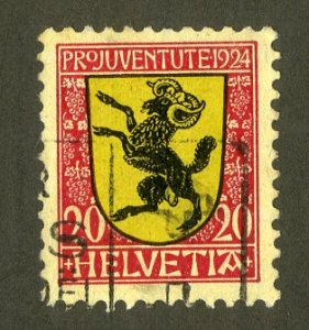 SWITZERLAND B31 USED SCV $2.00 BIN $.80 SCHAFFHAUSEN