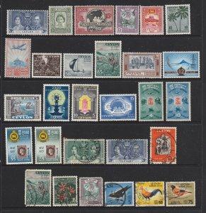 Ceylon a M&U lot KGVI to early QE2