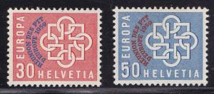 Switzerland 1959 Europa Overprinted for PPT Conference  VF/NH(**)