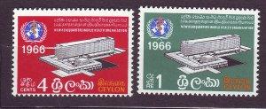 J23645 JLstamps 1966 ceylon set mnh #392-3 who