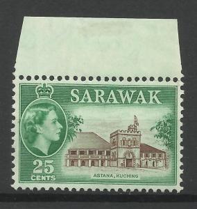 Sarawak 1955, Sg 197, 25c Sepia & Green, Unmounted Mint. [1450]